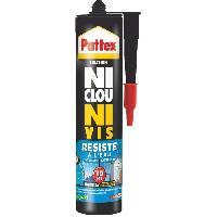 Colle - Pate De Fixation - Scellement Chimique PATTEX Cartouche de colle Ni clou ni vis résiste a l'eau 450 g