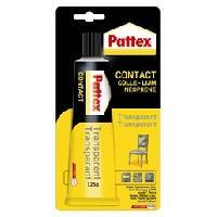 Colle - Pate De Fixation - Scellement Chimique PATTEX Contact Transparent 125gr