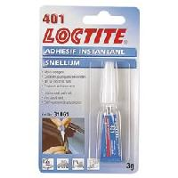 Colle - Silicone - Pate a joint Adhesif instantane LOCTITE 401 3g