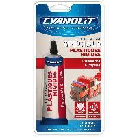 Colle - Silicone - Pate a joint Colle compatible avec plastique CYANOLIT 50ml