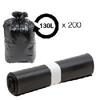 Collecte Des Dechets Sacs poubelle noir 130L - 40 microns BD -carton de 200- MID