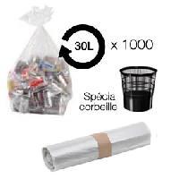 Collecte Des Dechets Sacs poubelle transparent 30L - corbeille -carton de 1000-