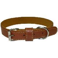 Collier Collier en cuir Eco Coneck'T - Taille - L - Marron - Pour chien