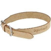 Collier DIEGO et LOUNA Collier en cuir naturel - 45 cm - Pour chien