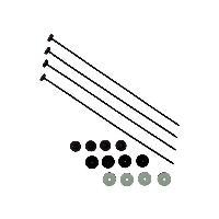 Collier De Serrage - Circlip Colliers Plastique Fixation rapide X4 - REVOTEC
