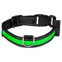 Collier EYENIMAL Collier lumineux Light Collar USB rechargeable L - Vert - Pour chien