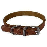 Collier YAGO Collier en cuir - Taille S 26-32 cm - Marron - Pour petit chien