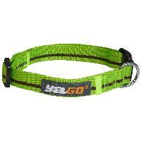 Collier YAGO Collier en nylon - Vert et marron - Taille M 34-53 cm - Pour moyen chien