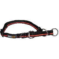 Collier YAGO Collier semi etrangleur pour education - Taille L - Noir et orange - Pour chien