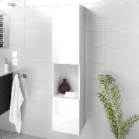 Colonne De Salle De Bain - Armoire De Salle De Bain LUNA LIMA Colonne de salle de bain L 25 cm - Blanc brillant