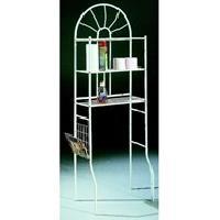 Colonne Wc - Armoire Wc - Coffrage Wc - Pont Wc MSK Meuble de WC en metal L 29 cm - Blanc - Generique