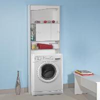 Colonne Wc - Armoire Wc - Coffrage Wc - Pont Wc Meuble WC - Machine a laver Blanc