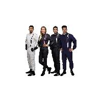 Combinaison Combinaison Race FIA Noir avec bandes Blanches T60 - GT2I