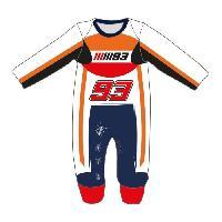 Combinaison GP MOTORS Pyjama Replica Racing Suit - Bébé Garçon - Orange et Rouge - 68 cm