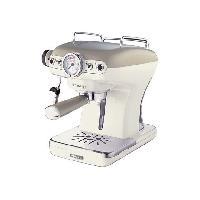 Combine Cafetiere-expresso 13891 Machine a espresso vintage - 900W - Beige
