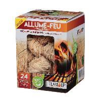 Combustible ALLUME-FEU 24 Laine de Bois - Avec Allumettes