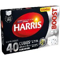 Combustible HARRIS 40 cubes allume-feu Boost - Sans odeur