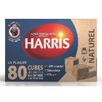 Combustible HARRIS 80 cubes allume-feu naturels - Sans odeur