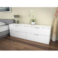 Commode - Chiffonnier - Semainier BILLUND Commode 4 tiroirs 160cm blanc