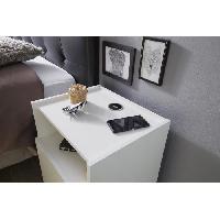 Commode De Chambre JOY Chevet 42 cm - Blanc brillant
