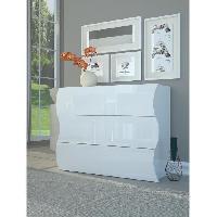Commode De Chambre ONDA Commode 110 cm blanc laque brillant