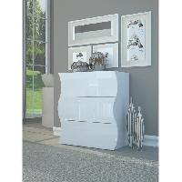 Commode De Chambre ONDA Commode 77 cm blanc laque brillant