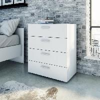 Commode De Chambre PEPE Commode 70x40.x82 cm blanc