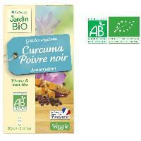 Complement Digestion - Complement Transit JARDIN BIO 40 gelules vegetales curcuma et poivre noir - Bio - 18 g - Antioxydant