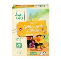 Complement Digestion - Complement Transit JARDIN BIO Ampoules gelee royale + pollen - Bio - 100 ml - Revitalisant