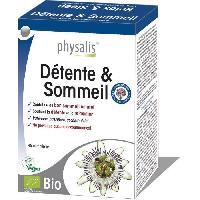 Complement Stress - Complement Anxiete - Complement Sommeil Physalis complément alimentaire Détente & Sommeil 45 comprimés Bio - Aucune
