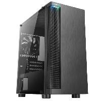 Composant - Piece Detachee ABKONCORE BOITIER PC C450M - Noir - Verre trempe - Format ATX -ABKO-C-450M-G-