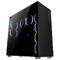 Composant - Piece Detachee ABKONCORE BOITIER PC R780 Sync - retro eclairage RGB - Noir - Verre trempe - Format E-ATX -ABKO-RMS-780-SYNC-