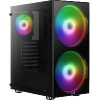 Composant - Piece Detachee AEROCOOL BOITIER PC Python - Noir - Verre trempe - Format ATX -ACCM-PB15033.11-