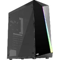 Composant - Piece Detachee AEROCOOL BOITIER PC Shard - Moyen Tour - Noir - Porte lateral transparente acrylique - Format ATX -ACCM-PV14012.11-