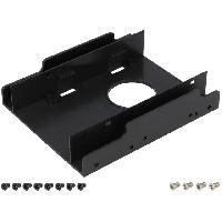 Composant - Piece Detachee Adaptateur de baie 2.5p vers 3.5p - Rack Disque Dur - 122 x 100 x 25mm - LogiLink