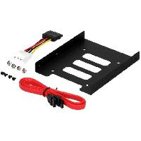 Composant - Piece Detachee Adaptateur de baie 2.5p vers 3.5p - Rack Disque Dur - 122 x 100 x 25mm - metal - LogiLink