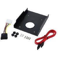 Composant - Piece Detachee Adaptateur de baie 2.5p vers 3.5p - Rack Disque Dur - 122 x 100 x 25mm - plastique - LogiLink