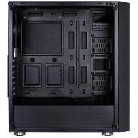 Composant - Piece Detachee Boitier PC QUARTZ RGB Noir -verre trempe