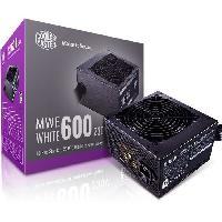 Composant - Piece Detachee COOLER MASTER MWE White V2 600W  - Alimentation 600W (Certifiée 80 Plus White Garantie 3 ans) Câbles plats noir
