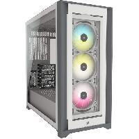 Composant - Piece Detachee CORSAIR Boîtier PC iCUE 5000X RGB - Verre Trempé Moyen-Tour ATX - Blanc (CC-9011213-WW)