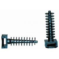 Composant De Tableau Electrique - Module VOLTMAN Lot de 25 embases a cheville - Standard - Noir