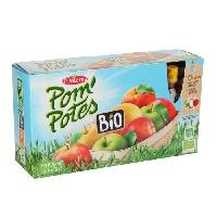 Compote MATERNE Pom'Potes Bio Pomme Nature 12x90g