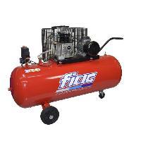 Compresseur FIAC Compresseur d'air horizontal bicylindre 150 L 3 CV 10 bar - Entrainement courroie