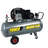 Compresseur MECAFER Compresseur 200 L 3HP Bicylindre courroie 10 bars Semi Pro PowerMonster