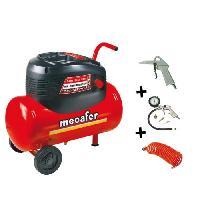 Compresseur MECAFER Compresseur d'air 24L 1.5HP Oil Home Master Kit