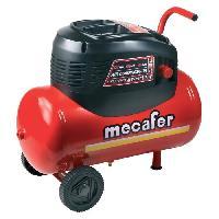 Compresseur MECAFER Compresseur d'air horizontal 24L 1.5HP Oil