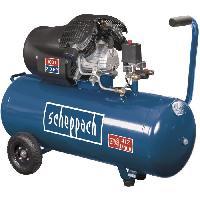 Compresseur SCHEPPACH Compresseur d'air horizontal HC100DC - 100 L - 3CV - 8 bars - Double cylindre a moteur lubrifie