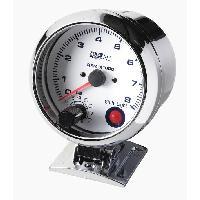 Compteurs & Manos Compte tours shift light - fond blanc - diametre 90mm Generique