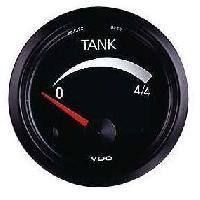 Compteurs & Manos Manometre Indicateur niveau essence - fond noir - Diametre 52mm