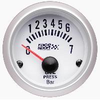 Compteurs & Manos Manometre Pression huile - fond blanc - diametre 52mm Generique